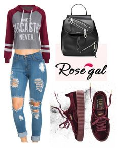 ROSEGAL Hoodie by tania-alves on Polyvore featuring polyvore, mode, style, Puma, Marc Jacobs, fashion and clothing