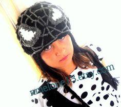 Black Spiderman crochet hat XMAS spiderman costume by NattyHatty, $20.99