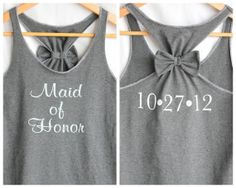I just love the bow tank...it doesn't have to be for a wedding