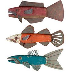 Jerry Eppel Folk Art, Rainbow Trout - Would be fun to make these out of cardboard with future kids. :)