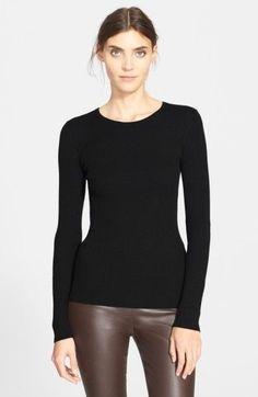 Theory Women's 'Mirzi' Rib Knit Merino Wool Sweater