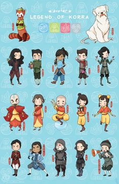 Legend of Korra Chibis
