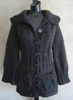 I have a similar sweater to this, but I like the cabling on this one. I think I would make the sleeves smaller, though.