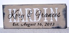 Family Name Sign Personalized Name Sign Custom Name Sign Handmade Sign Anniversary Wedding Rustic Shabby Chic Personalized Gift
