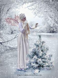 Snow fairy by Blooomberg.deviantart.com