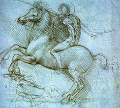 Léonard de Vinci. Etude pour le monument équestre de Ludovic Sforza, 1482-1498. Windsor, Royal Library.