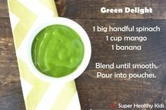 5 Super Healthy Baby Food Recipes for Squeeze Pouches | Healthy Ideas for Kids