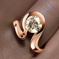 Rivoir Rose gold and diamond ring