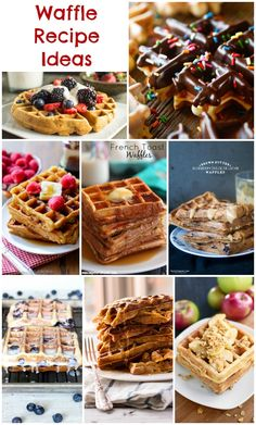 Waffle Recipes - ideas for brunch & dinner waffles