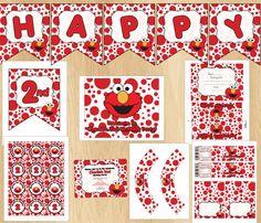 Elmo Birthday Party Package DIY Custom Invitation Printable. $17.00, via Etsy.