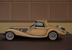 Mercedes Benz 500K Roadster 1936 Painting
