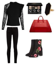 """Başlıksız #105"" by aysel-ulker on Polyvore featuring self-portrait, Gucci, Topshop, Jaeger ve Bobbi Brown Cosmetics"