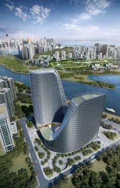 Huarong Hengqin Tower by Atkins in Zhuhai, China