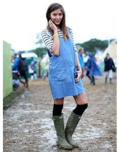 Glastonbury Music Festival Fashion Pictures  - Harper's BAZAAR