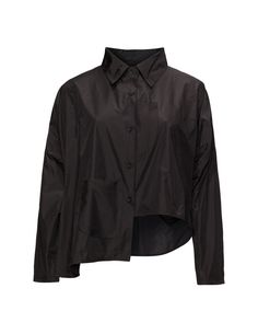 Transparente Asymmetric shirt in Black