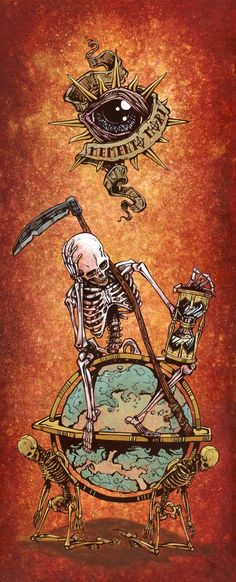 Memento Mori by David Lozeau Death Skeleton Mortality Canvas Art Print – moodswingsonthenet