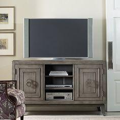 Hooker Furniture, Media Console, Two Doors And Adjustable Shelves, Hardwood  Solids