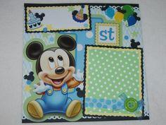 Disney Baby Mickey Mouse 1st Birthday by kariskraftkorner3301, $9.99
