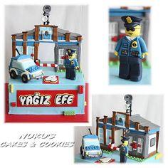 Lego Cake - police station