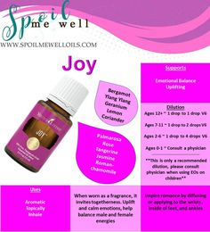 Joy Essential oil, Young Living oils, dilution ratios, balance emotions, natural living, happiness, diffuser, how to use essential oils, floral essential oil, essential oil perfume, essential oil for depression, essential oil dilution