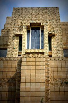 Charles Ennis House. 1924. Los Feliz neighborhood of Los Angeles, California. Frank Lloyd Wright. Textile Block Period.