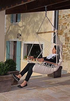Hamac fauteuil écru Royal : Achat vente de Hamac Chaise, Siège et fauteuil suspendu, Hamac fauteuil