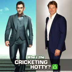 No matter whether they are on field or off field, you can never get enough of these handsome hunks. Who do you think is the most iconic cricket fashionista, Lion of Chennai, MS Dhoni or Royal of Rajasthan, Shane Watson? Shane Watson, Fashion Quiz, New Freedom, Chennai, Cricket, Ms, Lion, Suit Jacket, Handsome