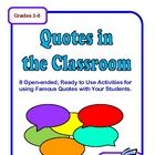 Here are 8 ready-to-use worksheets to use with famous quotes plus an idea sheet with more ways to use them! FREE Quotes in the Classroom - 8 Activities for Using Famous Quotes! FREE Quote of the Day Use this worksheet with a quote displayed on the board. Classroom Quotes, Classroom Freebies, Teacher Quotes, School Classroom, Classroom Ideas, Teacher Funnies, Science Classroom, Classroom Activities, Teaching Materials