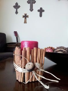 Apple cinnamon candle decor