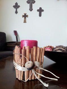 Apple cinnamon candle decor