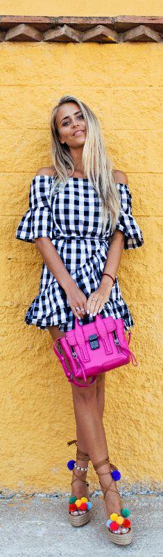 Pom Pom Shoes // Fashion Look by Janni Deler