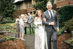 Just married at Willows Lodge, Rik and Gina!  Photographer:  Jennygg.  Officiant:  Annemarie Juhlian