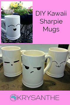 DIY Kawaii Sharpie Mug.  So easy to make, and so cute.