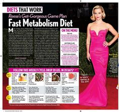 Such a great feature on #HayliePomroy 's fast #metabolism #diet & #ReeseWitherspoon 's fab results! via #LifeandStyle