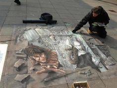 Harry Potter Street Art WOW!