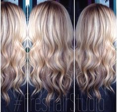 Stretched root dimensional blonde