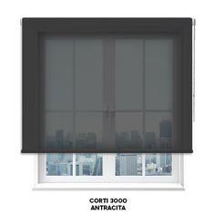 Estor screen Corti 3000 en color Antracita de Cortinadecor.