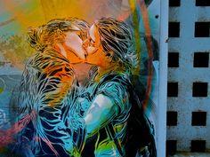 "beautiful! C215 - ""Be Yourself"" (Barcelona) by C215, via Flickr #lgbt #queer #bi #lesbian #art #streetart #graffiti #publicart #painting"