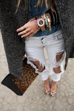 12 Ways To Wear Ripped Jeans This Season (And Still Look TotallyChic) | StyleCaster
