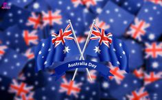Happy Australia Day Wallpaper with Australia Flag
