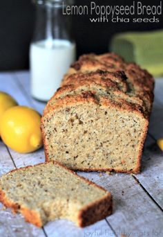 Whole Wheat Lemon Poppyseed Bread with Chia Seeds | www.joyfulhealthyeats.com