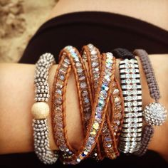 A blingy arm party. We can't get enough!