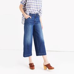 Wide-Leg Crop Jeans in Colvin Wash : flares, demi-boots & wide-leg | Madewell