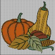 Costuras Stephany : Fall Cross Stitches Patterns
