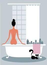 Resultado de imagem para laminas para cuadros cuarto de baño