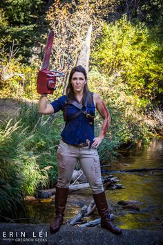 Ash Williams from Evil Dead Cosplay http://geekxgirls.com/article.php?ID=5795