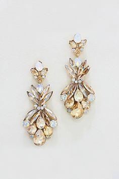 Tiffany Chandelier Earrings in Moon Opalescence on Emma Stine Limited $55