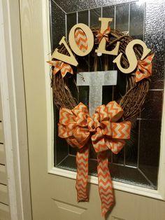 Tennessee Volunteers Wreath