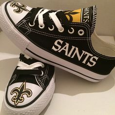 New Orleans Saints Converse Style Sneakers - http://cutesportsfan.com/new-orleans-saints-designed-sneakers/