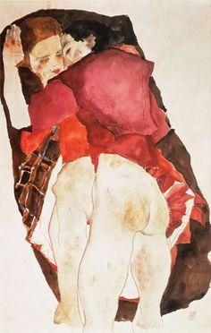 Bild:  Egon Schiele - Zwei Mädchen